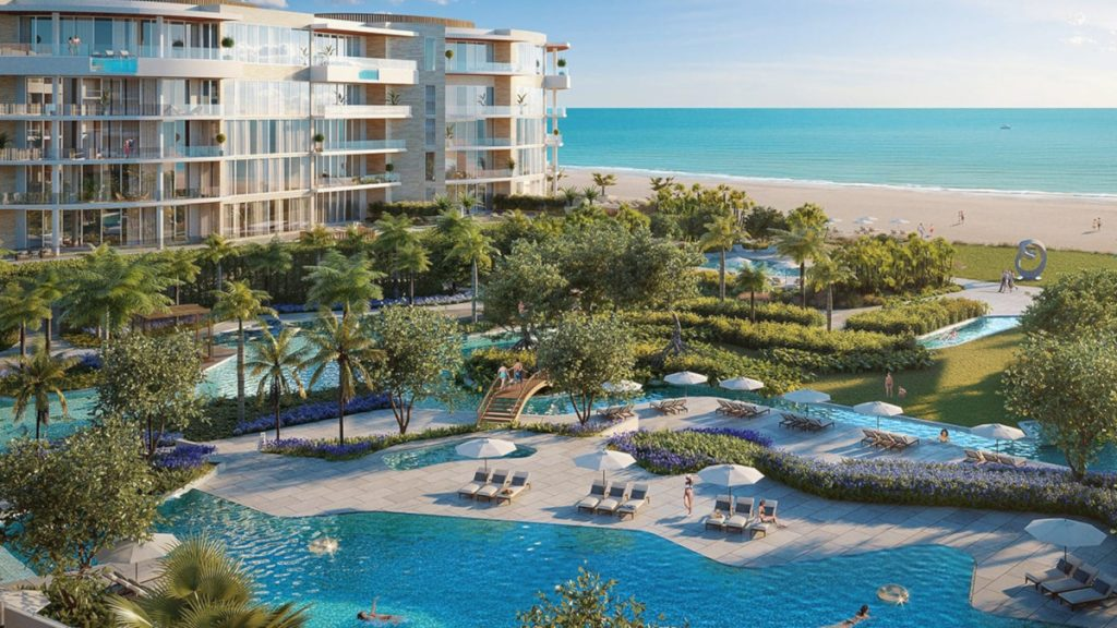 Resort in Longboat Key, swimming pool visible as well as Ocean
